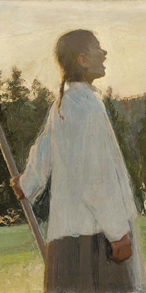 ELLEN THESLEFF, ECHO, 1891.  Oil on canvas, Anders Wiklöf Collection, Andersudde, Åland Islands / Photo: Kjell Söderlund