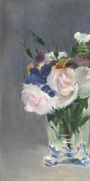 Édouard Manet.  Flowers in a Crystal Vase, about 1882.  National Gallery of Art, Washington, DC.