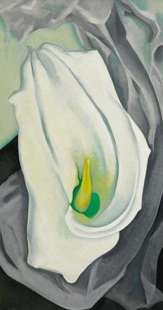 Georgia O'Keeffe, White Calla Lily from 1927 (estimate $8–12 million)