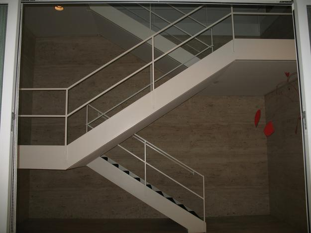 Arts Club of Chicago, Mies van der Rohe staircase and Alexander Calder mobile