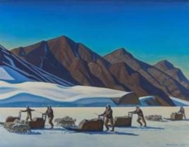 Rockwell Kent's Polar Expedition, 1944, sold for $605,000.