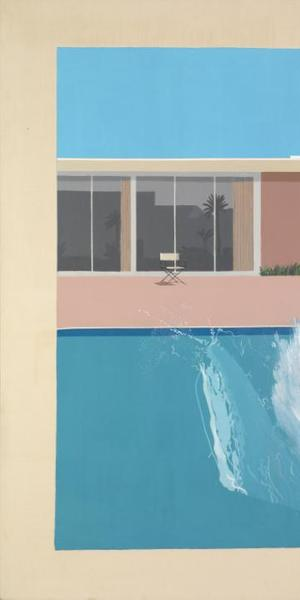 David Hockney, A Bigger Splash, 1967.  Acrylic on canvas, support: 2425 x 2439 x 30 mm Purchased 1981© David Hockney 2010