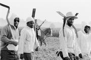 Chandra McCormick.  Men going to work in the fields of Angola, 2004.  Gelatin silver print.  Courtesy of the artist.  © Chandra McCormick