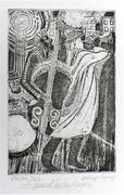 "Metro Jazz, Etching 6x9"" image.Limited Ed.  10 by HOYES"