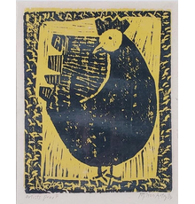 Color woodblock printed on Japan paper by Milton Avery (American, 1885-1965), titled Hen, an artist's proof, signed lower right and dated 1954 (est.  $1,500-$3,000).