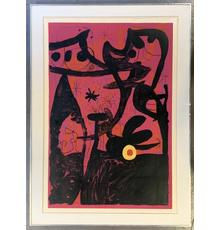 Lithograph in colors titled Defile des Mannequins Istanbul (Mannequin Parade in Istanbul) by Joan Miro (Spanish, 1893-1983), circa 1969, signed and numbered (34/75) (est.  $5,000-$8,000).