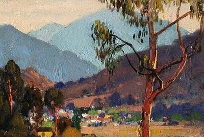 Winding Valley by early California Impressionist Alfred Mitchell (1888-1972) SOLD