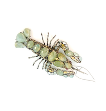 Iradj Moini silvered metal and hardstone lobster brooch, signed Iradj Moini, 8 ½ inches long (est.  $300-$500).