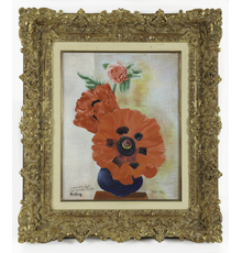 Moïse Kisling (French/Polish, 1891–1953), Still Life (Poppies), Oil on Canvas, 1938
