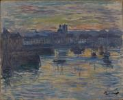 Claude Monet (French, 1840 – 1926) Port of Dieppe, Evening, 1882 Oil on canvas 27 ¼ x 28 ¾ inches Collection of the Dixon Gallery and Gardens, Gift of Montgomery H.  W.  Ritchie, 1996.2.7