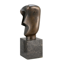 """""""Divided Head"""", a bronze by Henry Spencer Moore"""