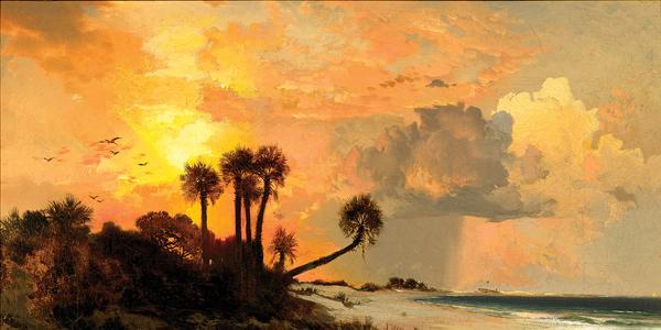 Thomas Moran (American, 1837-1926), Fort George Island, 1880, Oil on canvas, 11 x 15 in., The Florida Art Collection, Gift of Samuel H.  and Roberta T.  Vickers, Photography by Randy Batista