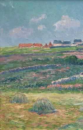 Henry Moret, Lande Bretonne, c.  1903.  Oil on canvas.  18 x 24 in