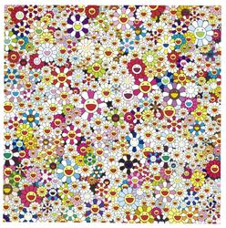 Takashi Murakami Open Your Hands Wide, Embrace Happiness!, 2010 70 7/8 x 70 7/8 in Private Collection, Courtesy of Sabsay Gallery Denmark.  © 2010 Takashi Murakami / Kaikai Kiki Co., Ltd.  All rights reserved