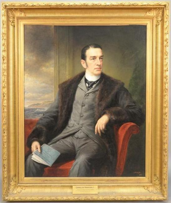 This portrait of Cornelius Vanderbilt by Daniel Huntington is being offered by Nadeau's Auction Gallery on Nov.  7, 2015, with online bidding offered by Invaluable.