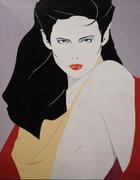 Acrylic on canvas painting attributed to Patrick Nagel (Am., 1945-1984), titled Mirage (est.  $25,000-$30,000).