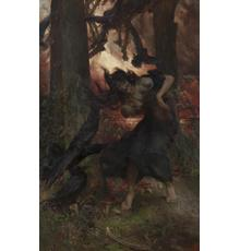 Edgar Bundy The Witch Oil on Canvas 62 3/16 x 40 3/8 inches (158 x 102.5 cm)