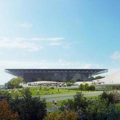 Artist's rendering of the Lucas Museum of Narrative Art.