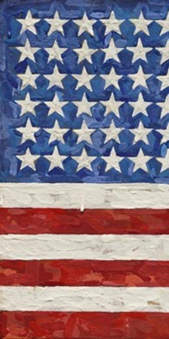Jasper Johns, Flag, from 1983.  Set an artist auction record of $36 million on Nov.  11, 2014, at Sotheby's.