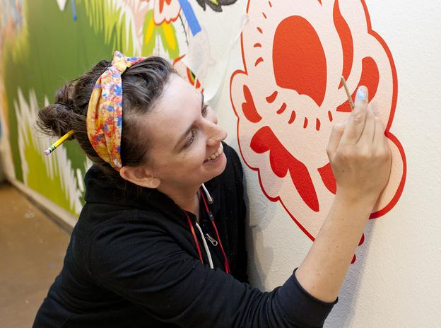 Artist Natasha Bowdoin will create a site-specific work that will fill the 24-foot wall of the Central Gallery at the Moody Center.