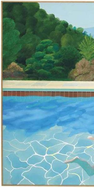 """Portrait of an Artist (Pool with Two Figures)"" (1972) by David Hockney"