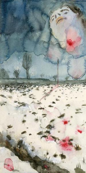 Anselm Kiefer (German, born 1945).  Winter Landscape, 1970.  Watercolor, gouache, and graphite on paper.  The Metropolitan Museum of Art, Denise and Andrew Saul Fund, 1995.  ©Anselm Kiefer