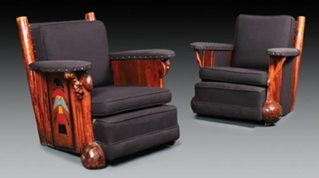 Thomas C.  Molesworth Club Chairs sold for $55,000
