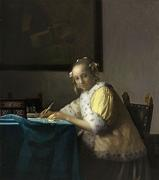 Johannes Vermeer, A Lady Writing, c.  1665-1667, oil on panel, National Gallery of Art, Washington, Gift of Harry Waldron Havemeyer and Horace Havemeyer, Jr, in memory of their father, Horace Havemeyer