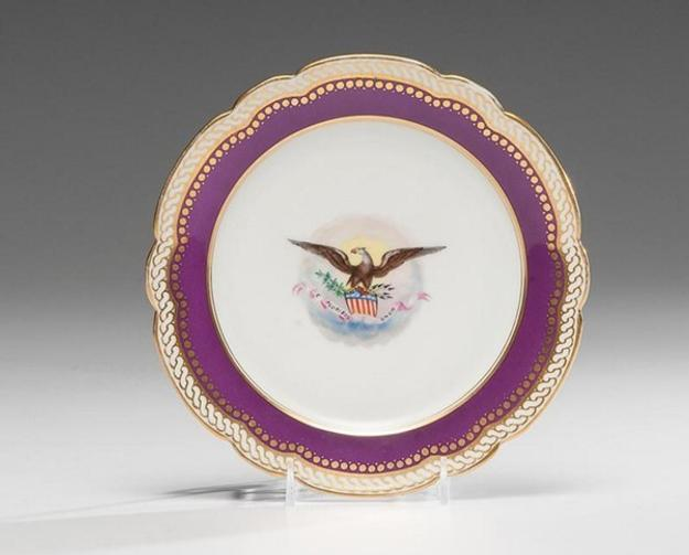 Abraham Lincoln White House China, Salad Plate from First Service in Cowan's Auctions' American History Auction on November 18, 2016 with an estimate of $8,000-12,000