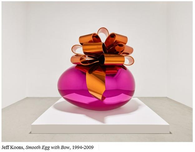 Jeff Koons's Smooth Egg with Bow (Magenta/Orange), 1994-2009