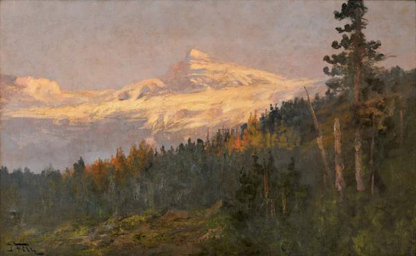 "John Fery's (American, 1859-1934) ""Black Feet Glacier, Glacier National Park,"" one of his largest oils to ever enter the market, was originally commissioned by the Great Northern Railroad and will now be offered with an estimate of $20,000 to $40,000."