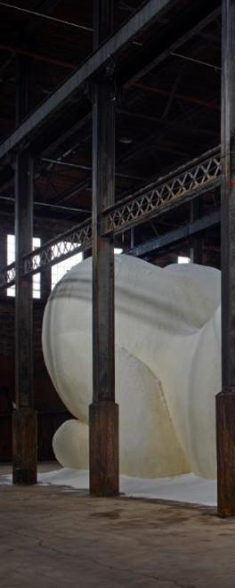 "Kara Walker, ""A Subtlety: The Marvelous Sugar Baby, an Homage to the unpaid and overworked Artisans who have refined our Sweet tastes from the cane fields to the Kitchens of the New World."" Installed at the former Domino Sugar Factory, Williamsburg, NY."