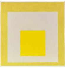 Josef Albers, Study for Homage to the Square: Two Yellows with Silvergray.  Oil on fiberboard, 1960 61 x 61 cm (24 x 24 in) Estimate: € 180,000-240,000