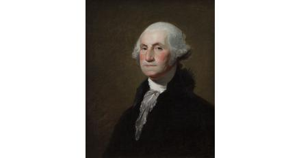 "Gilbert Stuart's ""Portrait of George Washington"", oil on canvas, 1798, from the Collection of Sam Wyly, fetched $1.025 million (presale estimate $150,000 to $250.000)."
