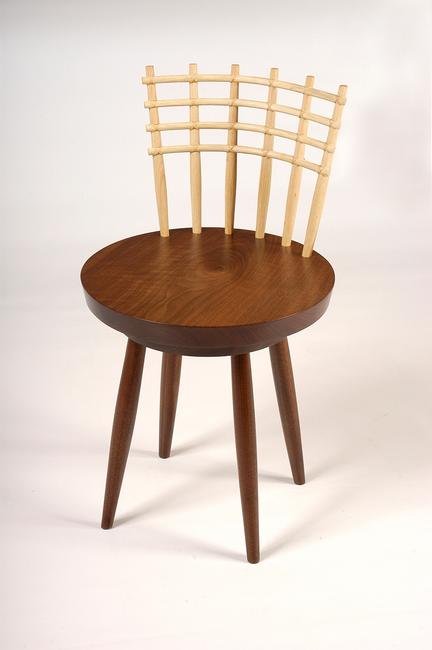 Ligne Revolving Chair, Shoki Collection, George Nakashima Woodworker.