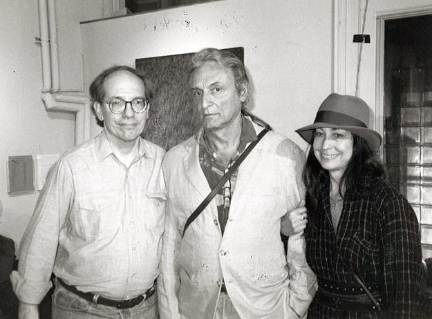 Painter Larry Rivers (center) with ATOA board members Doug Sheer and Vernita Nemec at an ATOA event, February 17, 1995.