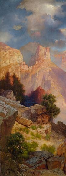 Thomas Moran, Grand Canyon of Arizona at Sunset, 1909, Oil on canvas, 30 x 40 inches, Paul G.  Allen Family Collection