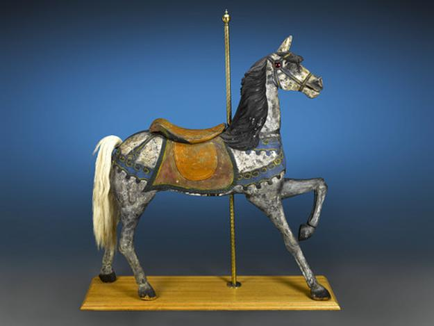 An original, rare carousel horse (measuring more than 5ft tall) designed by Charles W.  Dare.