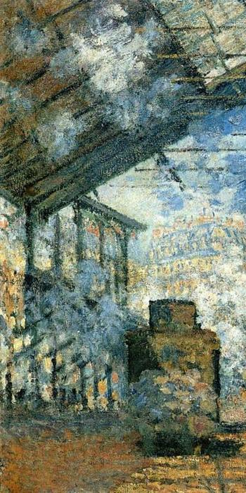 La gare Saint-Lazare, Claude Monet (1840-1926), France, 1877, 75.5 x 104 cm, Oil on canvas, Musée d'Orsay