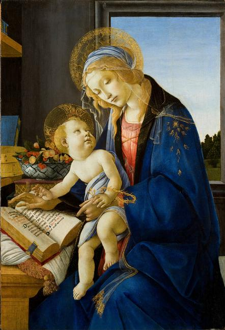 Sandro Botticelli, Madonna del Libro (Madonna of the Book), Tempera on panel, Museo Poldi Pezzoli, Milan, inv.  443