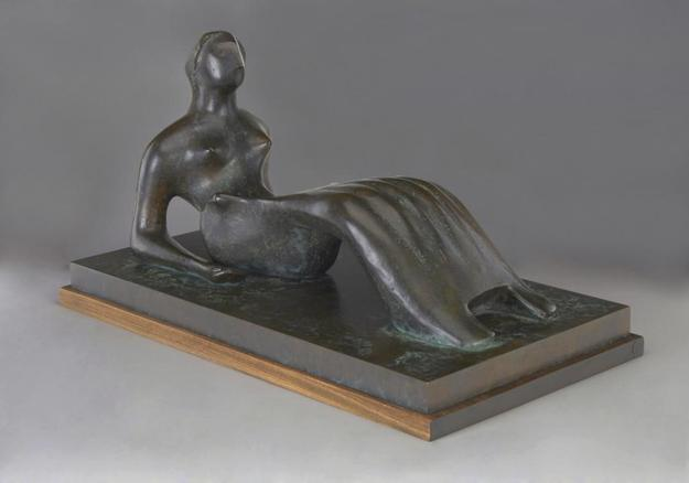 Henry Moore, Working Model for Reclining Figure: Bone Skirt, 1977-1979 (est.  $600,000 – 800,000) © The Henry Moore Foundation.  All Rights Reserved, DACS 2014 / www.henry-moore.org*