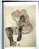 A drawing by the artist Egon Schiele, known as Seated Woman With Bent Left Leg (Torso).