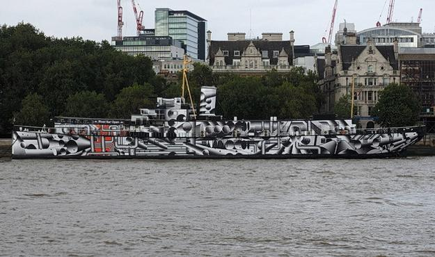 Tobias Rehberger's Dazzle Ship.  London