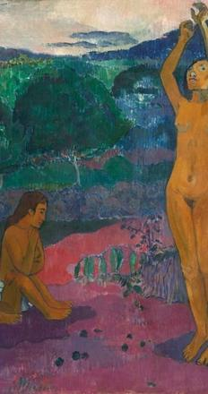 Paul Gauguin (French 1848-1903), The Invocation, 1903.  Oil on canvas.  National Gallery of Art, Washington D.C., gift from the collection of John and Louise Booth in memory of their daughter Winkie, 1976.63.1