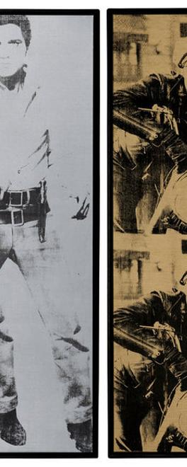 "Andy Warhol's ""Triple Elvis"" and ""Four Marlons"" sold for a combined $152 million at Christie's."
