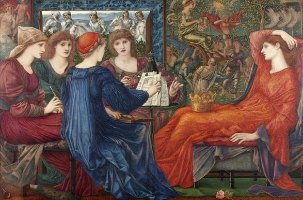 Edward Burne-Jones, Laus Veneris 1873-78.  Oil painting on canvasy.