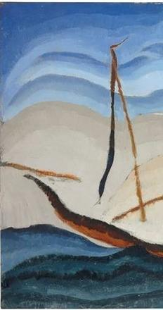 Arthur Dove, Boat Going Through Inlet; c.  1929