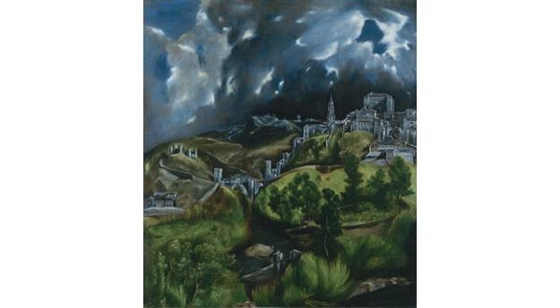 El Greco (Domenikos Theotokopoulos) (Greek, Iráklion (Candia) 1540/41–1614 Toledo), View of Toledo (detail).  Oil on canvas.  The Metropolitan Museum of Art, H.  O.  Havemeyer Collection, Bequest of Mrs.  H.  O.  Havemeyer, 1929
