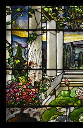 Louis Comfort Tiffany, Garden landscape window, 1900-1910, Photographed by John Faier © Driehaus Museum 2013