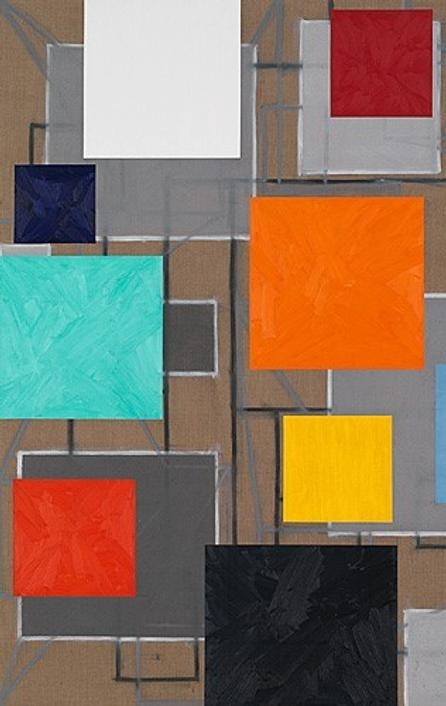 CHARLES ARNOLDI VOLT (cat.  no.  CHA001) 2015 oil on linen 94 x 80 in (238.76h x 203.2w cm)